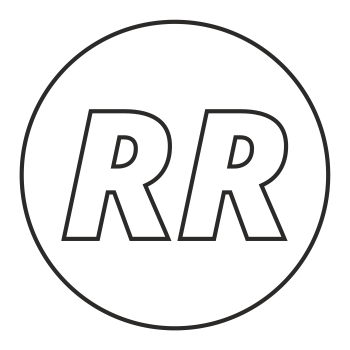 RR logo circle wireframe space